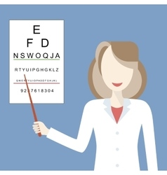Doctor woman ophthalmologist vector