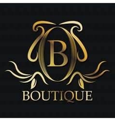 Boutique gold emblem design vector