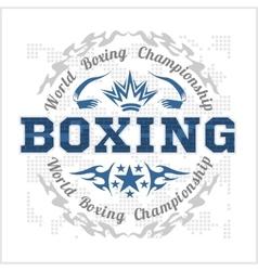 Boxing vintage label for poster flyer or t vector