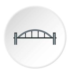 Bridge with round pillars icon flat style vector