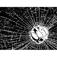 broken glass fist vector image vector image