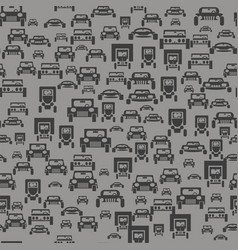 Car silhouette seamless pattern vector