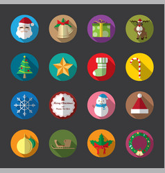Christmas flat icons color vector