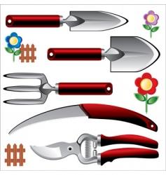 garden tools vector image vector image