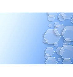 Geometrical background with transparent hexagons vector image vector image