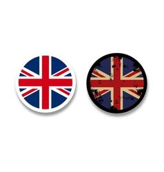 Grunge british flag badges vector