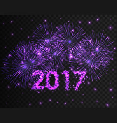 happy new year 2017 firework background greeting vector image