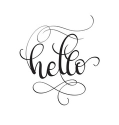 hello text isolated on white background vector image
