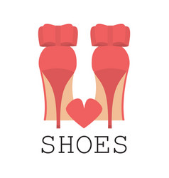 i love shoes poster vector image vector image
