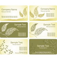 label leaf vector image vector image