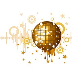 musical background for party vector image