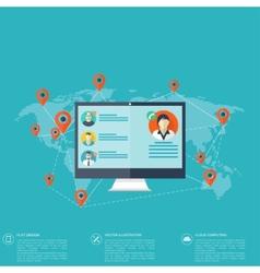 Notebook computer icon Social media network vector image vector image