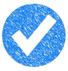ok grunge icon vector image vector image