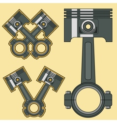 piston vector image