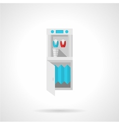 Running water cooler flat icon vector image vector image
