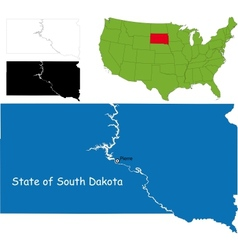South dakota map vector image vector image