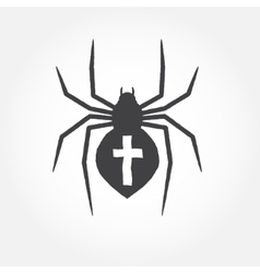 Spider outline icon vector