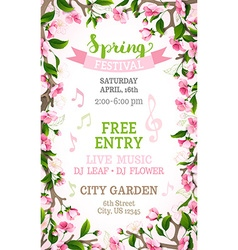spring festival template vector image vector image