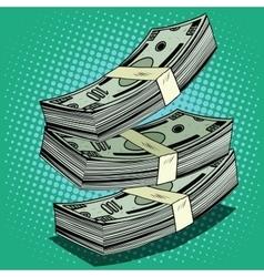 Stack of money dollar bills cash vector