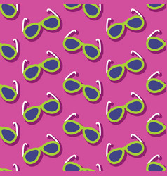 Summer seamless pattern with sunglasses vector