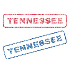 Tennessee textile stamps vector