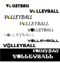 Volleyball text for logo the team and the cup vector