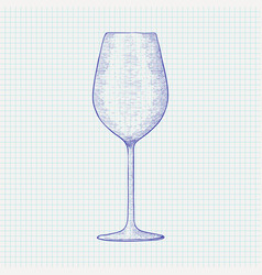 Wine glass hand drawn sketch vector