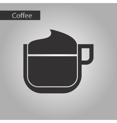 Black and white style coffee milk cream vector