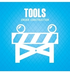 Road barrier tool vector