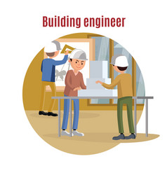 Building engineering concept vector