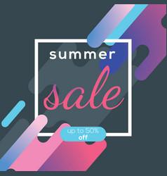 Summer sale banner poster design concept vector