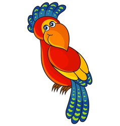 Parrot Cartoon african wild animal character vector image