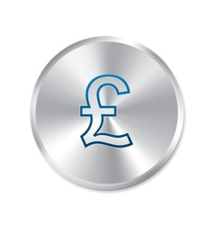 Pound silver sign Isolated currency icon vector image