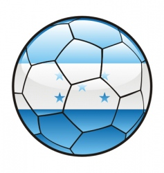 flag of Honduras on soccer ball vector image