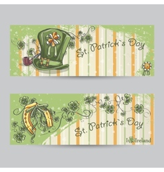 Set of horizontal banners for st patricks day vector