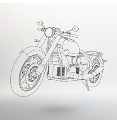 Road bike motorcycle in the contour lines vector
