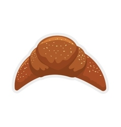 Croissant bread icon bakery design vector