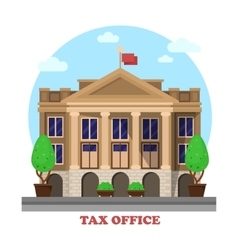 Tax office facade architecture financial building vector
