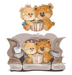 a couple of brown teddy vector image vector image