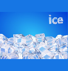 background with ice cubes vector image
