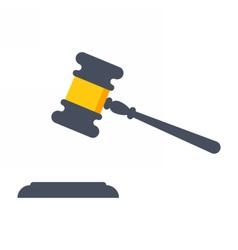 Black gavel judge vector