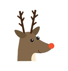 Cartoon deer head animal vector image