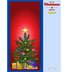 Christmas tree panel and copy space vector