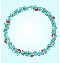 Decorative round floral frame vector