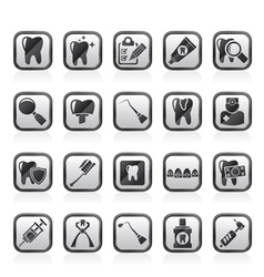 Dental medicine and tools icons vector
