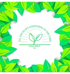 Eco nature plant colorful ecology vector