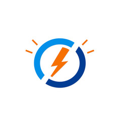Electric light bolt icon logo vector