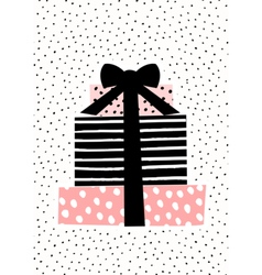 Gift Boxes Greeting Card Design vector image vector image