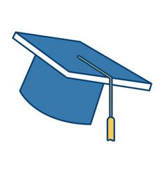 Graduation hat cap vector