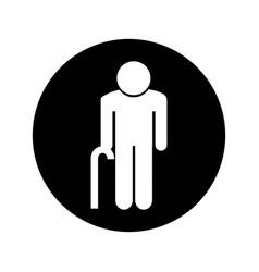 grandfather figure silhouette icon vector image